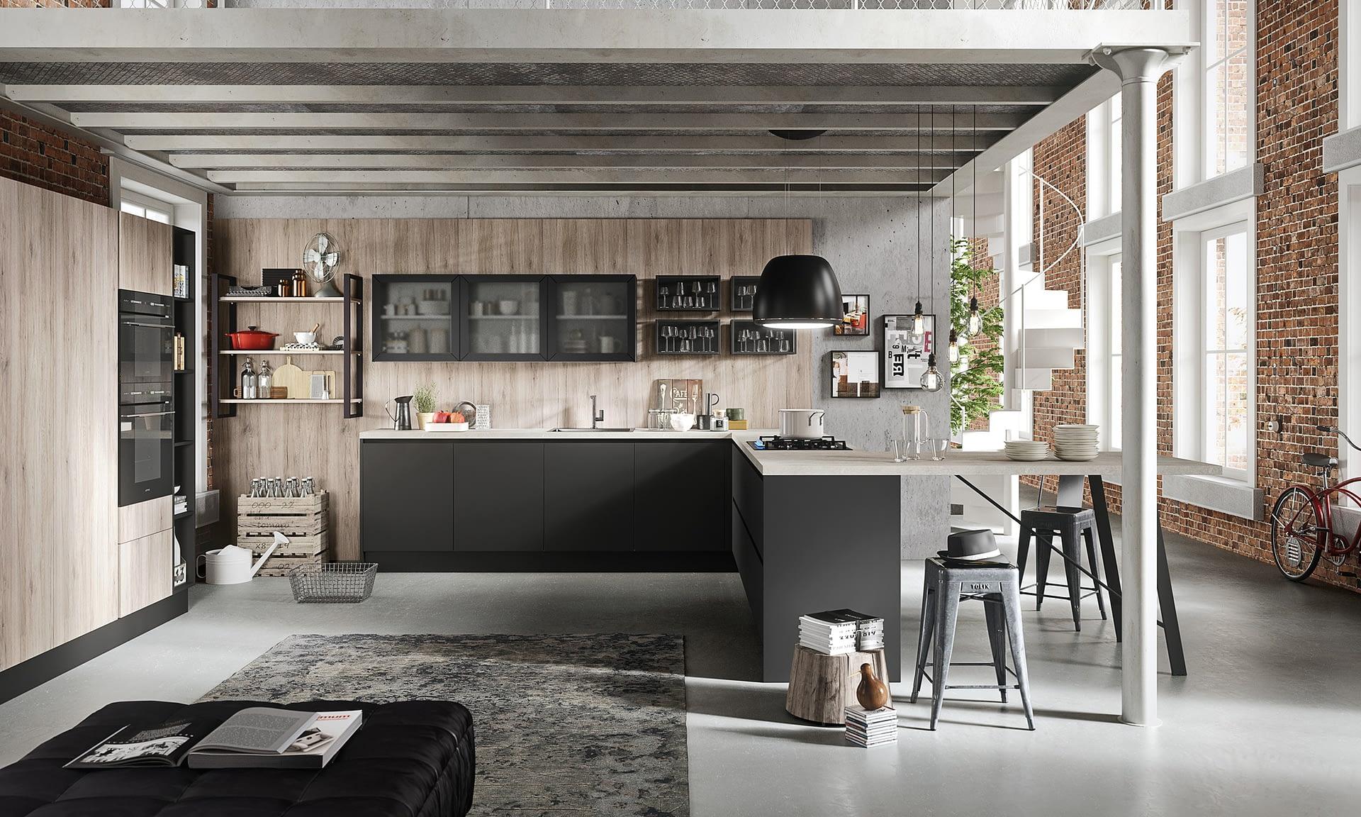 Cucina Urban composizione angolo